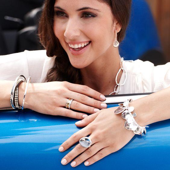 Pressed Paillette Multi Drop Stretch Bracelet  https://www.chloeandisabel.com/boutique/meganbarnes