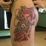 Pocket Watch and Rose Tattoo
