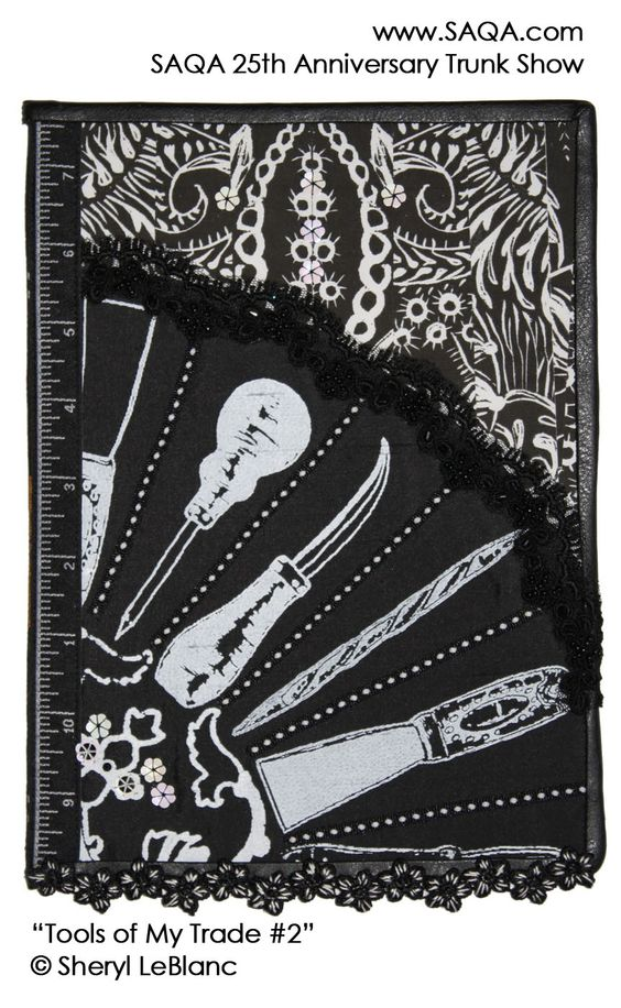 Art quilt by Sheryl Le Blanc #artquilts #SAQA