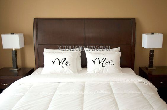 Mr and Mrs  Black Only  Iron on/Heat Transfers by VinylConcepts, $13.75