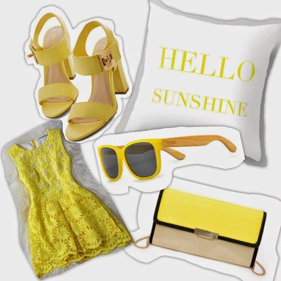 Yellow summer must haves. love yellow