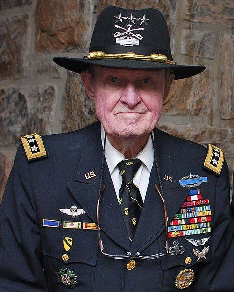 """Retired Army Lt. Gen. Harold """"Hal"""" Moore Jr. Moore is best known as the lieutenant colonel in command of the 1st Battalion, 7th Cavalry Regiment, at the Battle of Ia Drang, in 1965 during the Vietnam War. He is the author of """"We Were Soldiers Once And Young,"""" which was adapted into the 2002 film """"We Were Soldiers"""""""