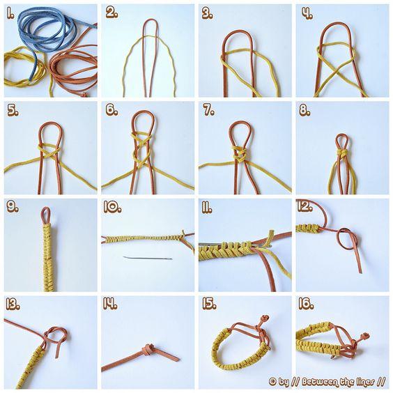 Fishtail braided leather bracelet  #handmade #jewelry