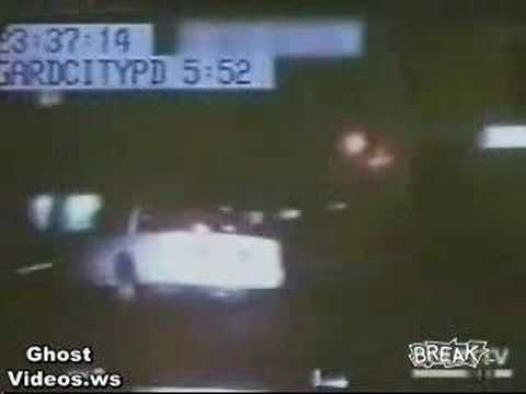Ghost Car Drives Through a Fence During High Speed Pursuit