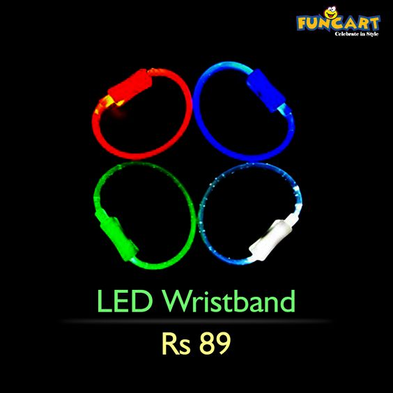 Be the life of the party with these flashing 'LED Wrsitbands'. Order them from our website here: goo.gl/2IspPj ‪#‎funcart‬ ‪#‎ledbands‬ ‪#‎led‬ ‪#‎wristband‬ ‪#‎perfectband‬