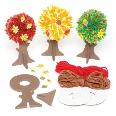 These cute Autumn Tree Pom Pom Kits, just landed for the season instantly became our new favourites!