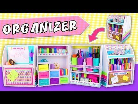 3 2 1 Diy Desk Organizer Expandable From Cardboard Back