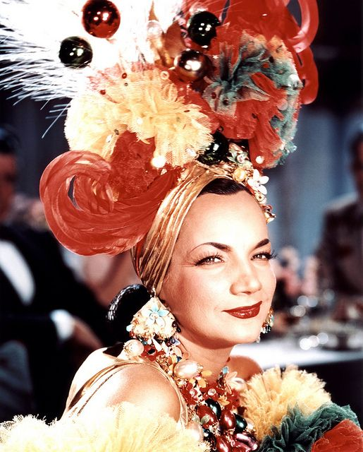 """CARMEN MIRANDA (1909-1955) - #Portuguese-born - Brazilian samba singer, dancer, Broadway actress, and film star who was popular in the 1940s and 1950s. She was known as the """"Brazilian Bombshell"""