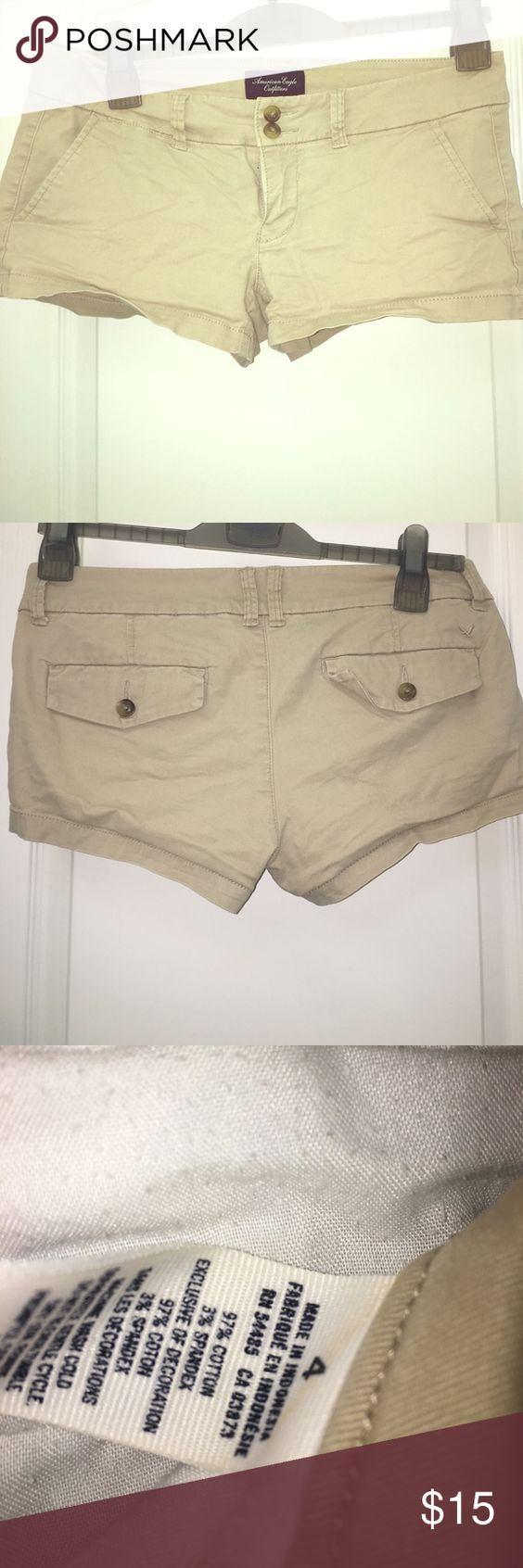 American eagle shorts Super short stretch khaki shorts from American eagle! American Eagle Outfitters Shorts