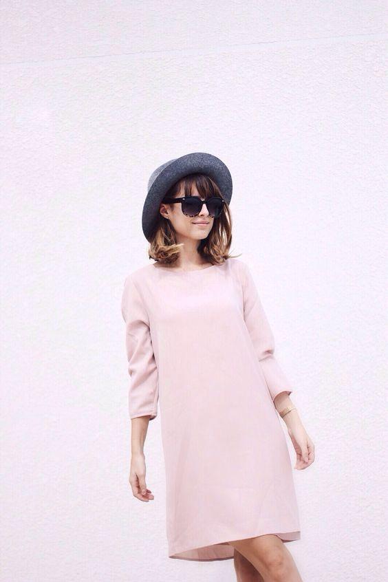 Vestido rose quartz:
