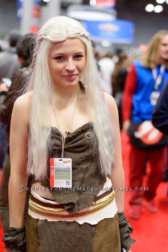 Khaleesi daenerys targaryen costume from hbo 39 s game of for Game of thrones daenerys costume diy