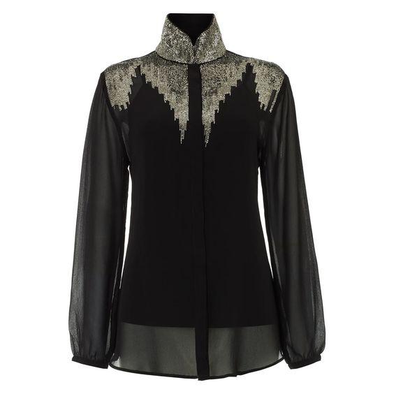 Black Elena Shirt | Raishma | Wolf & Badger