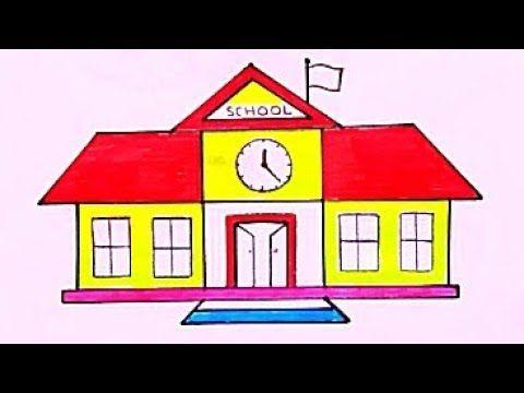 رسن مدرسة سهله وجميل رسم سهل جدا رسومات سهلة وجميلة تعليم الرسم للمبتدئين خطوة بخطوة Youtube Birthday Cake Kids School Kids