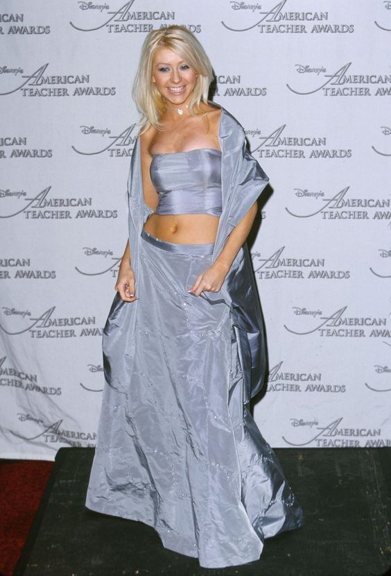 When Christina Turned Up the Glamour, Her Crop Top Grew a Few Inches in Length