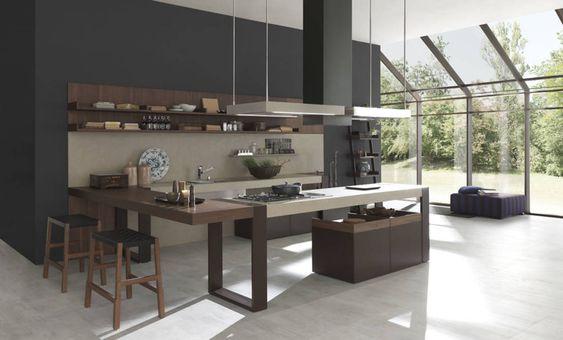 Cozinhas modernas.