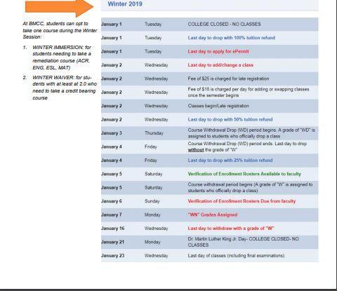 Bmcc Academic Calendar Fall 2021 ✅BMCC Academic Calendar   You Calendars https://.youcalendars