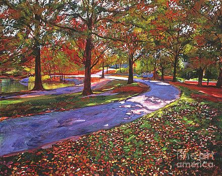 Road By The Lake by David Lloyd Glover