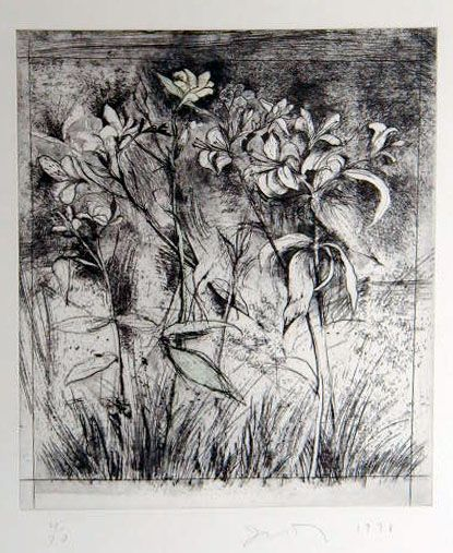 "Jim Dine  ""Superb Lilies"" Print"