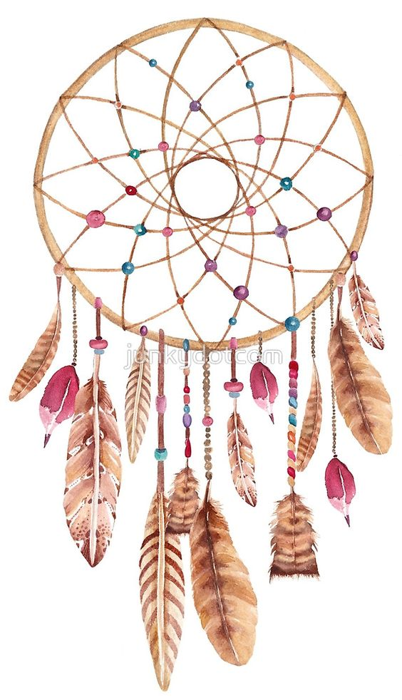 Pink, Watercolor dreamcatcher and Khakis on Pinterest