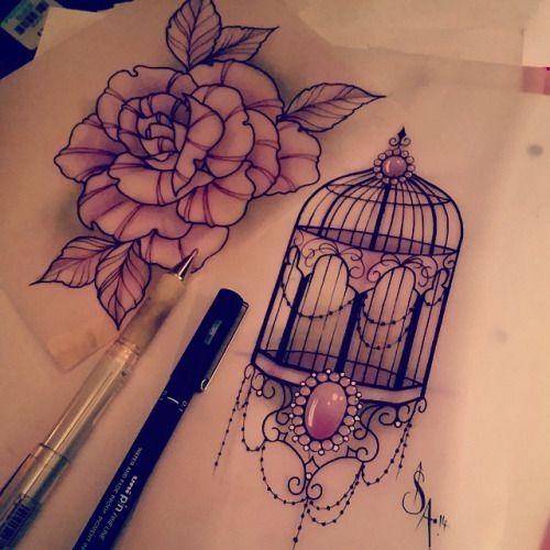 bird cage tattoo sleeve - Google Search