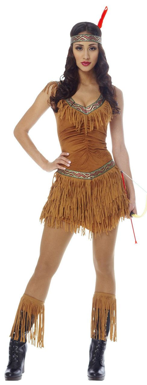 indian costumes sexy native american indian maiden - Halloween Native American Costumes