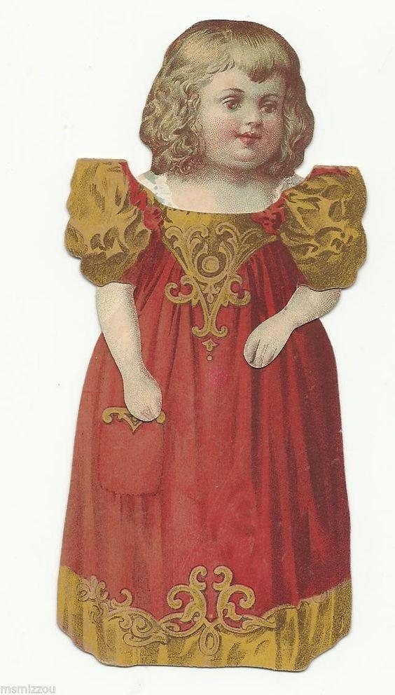 Vintage Victorian Paper Doll Girl