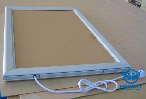 Hiwant new aluminium profile product—— Ultra-thin single-sided aluminium alloy advertising light box.