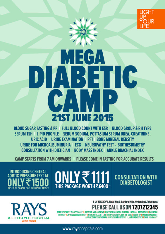 Mega Diabetic Camp on 21st June'15