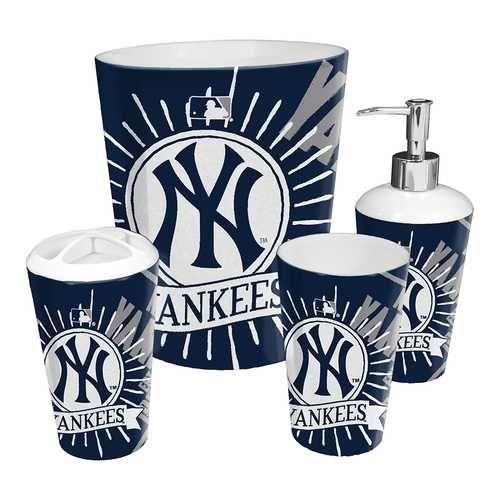 New York Yankees Mlb 4 Piece Bathroom Decorative Set Scatter