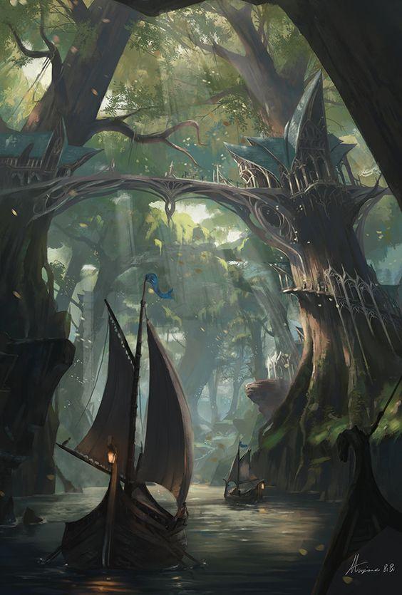 Forest Palace, Maxime BiBi on ArtStation at https://www.artstation.com/artwork/YJrRP