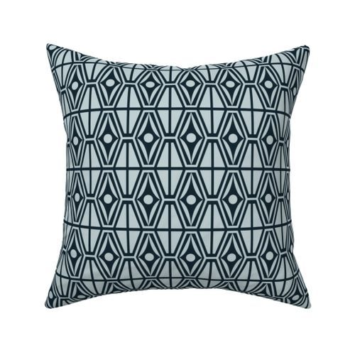 Geometric Triangles Diamonds Throw Pillow Cover w Optional Insert by Roostery
