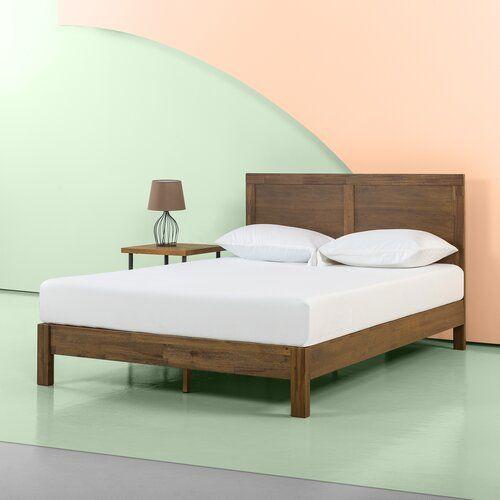 Beacsfield Bed Frame Blue Elephant Size Twin Wood Platform Bed