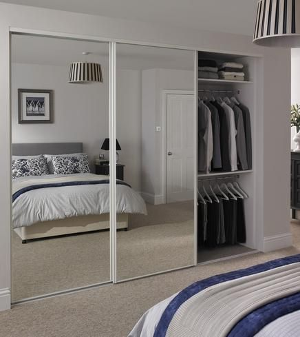 Sliding mirrored wardrobe doors Howden Joinery