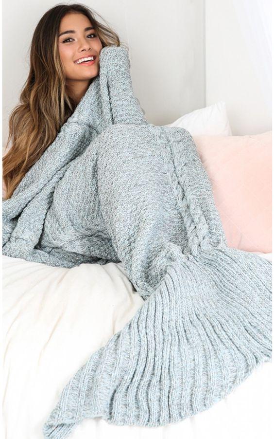 Mermaid blanket in blue marle | SHOWPO Fashion Online Shopping:
