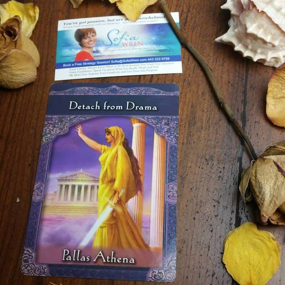 This post contains an alignment, comment YES to receive. Today's #Intuitive #Oracle card reading for today and Thursday is Athena, Detach from drama.