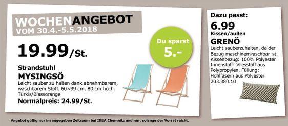 Ikea Mysingso Strandstuhl Strandstuhl Ikea Und Strand