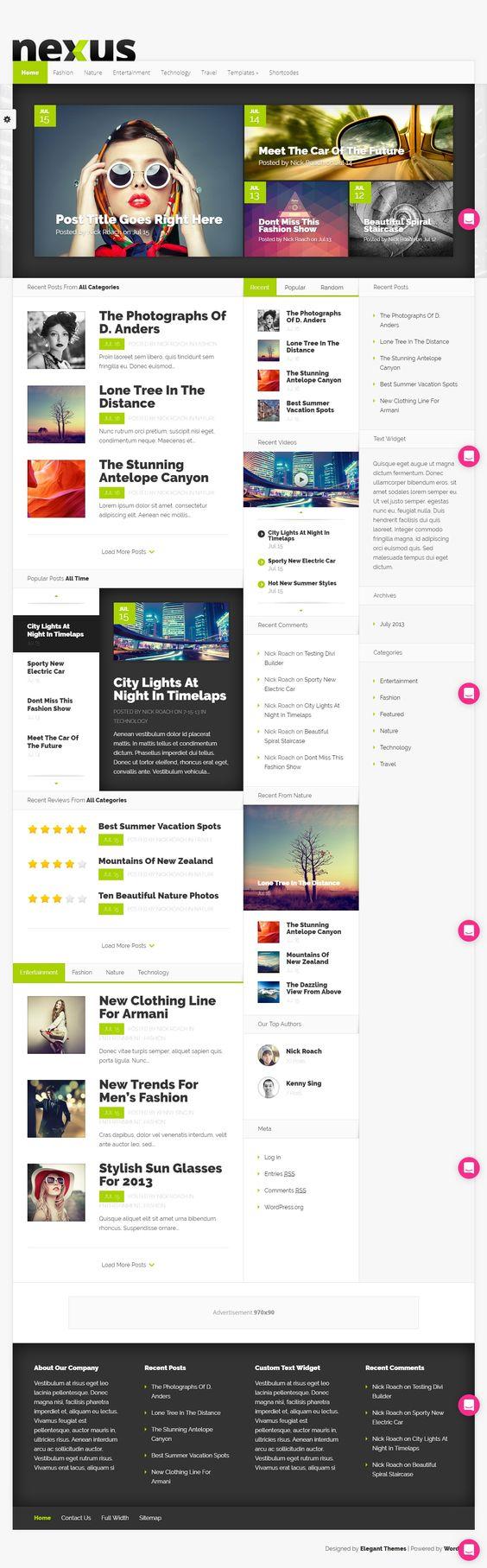 Nexux WordPress Theme
