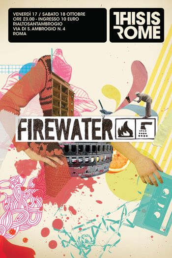 thisisrome firewater poster: by nazario graziano