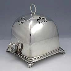 Tiffany Sterling Covered Toast Rack, circa 1900 ~~ this is from a time when even the most utilitarian of objects were beautifully crafted.