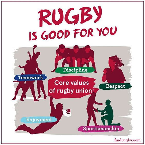 """""""Rugby is good for you  Get involved at findrugby.com"""""""