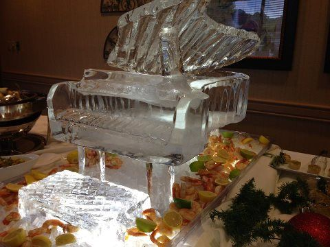piano ice sculpture