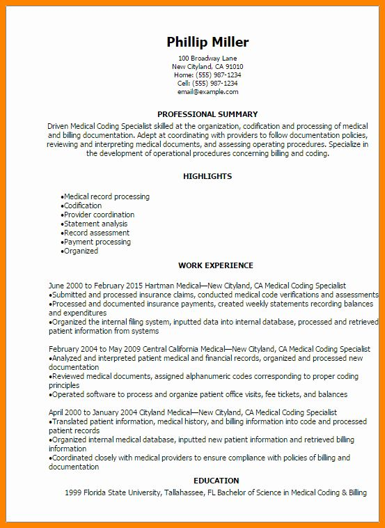 Billing And Coding Resume Luxury 7 Medical Billing And Coding Resumes Medical Coder Resume Business Analyst Resume Resume Examples