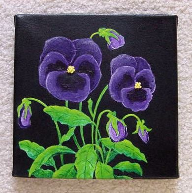 Purple Pansies Painting Collage by LakeViewStudio on Etsy, $22.00