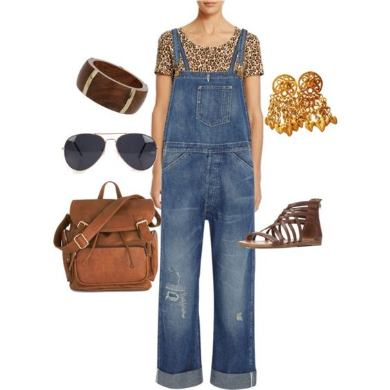 A fashion look from March 2015 featuring Jones New York t-shirts, Levi's jumpsuits and Charlotte Russe sandals. Browse and shop related looks.
