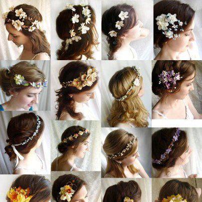 coiffure florale de la nouvelle mariée