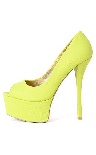 Qupid Pinch-01 Embossed Platform Pumps LEMON LIME 7.5 Qupid, To SEE or BUY just CLICK on AMAZON right here http://www.amazon.com/dp/B00JL4UUNI/ref=cm_sw_r_pi_dp_FeFvtb0F29XM93C7