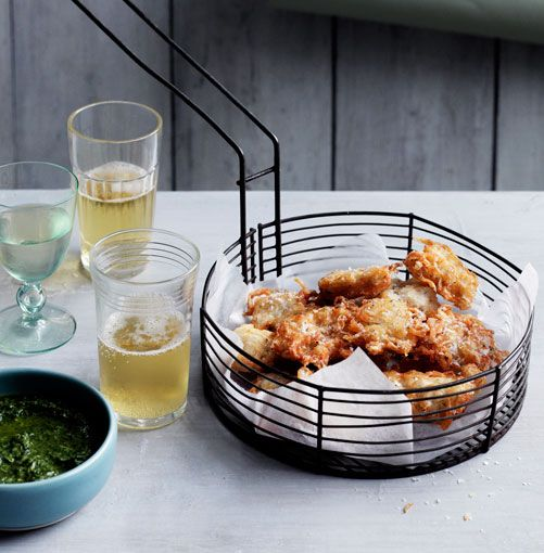 Baby whitebait fritters with rosemary and anchovy dipping sauce // PHOTOGRAPH BEN DEARNLEY