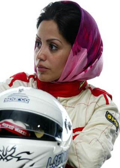 """Laleh Seddigh 1977, Teheran and is an Iranian female race car driver. She races both on circuits and in rallies. She lives in Teheran and has been called the """"little Schumacher"""" Seddigh started driving at the age of 13, taught by her father. She passed her driving test at 18. She had to get special permission from a local ayatollah in order to compete against men. Driving is nota contact sport, and on the condition that would confirm to dress-codes......"""