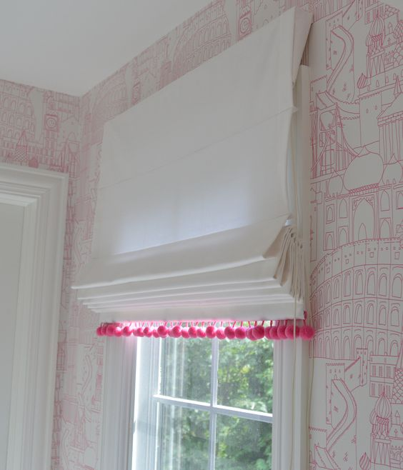 Pom Poms Roman And Roman Shades On Pinterest