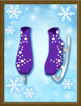 Shall we date?: Blood in Roses+Special Dating - Melt it Away! Beaded Skating Shoes (Purple)